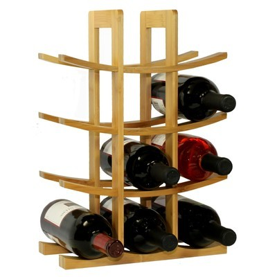 Oceanstar 12-Bottle Natural Bamboo Wine Rack WR1149