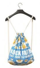 Fashional Item/Canvas Drawstring Backpack [RF Daisy]