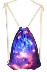 Fashional Item/Canvas Drawstring Backpack [Starry Sky Printing]