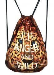 Fashional Item/Animals Series Canvas Drawstring Backpack [Leopard Print]