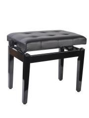 Ebony Ajustable Deluxe Leather Padded Piano Bench