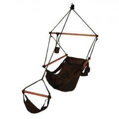 Outdoor/Patio/Lawn & Garden Hammocks Swing Hanging Air Chair With Pillow & Drink Holder