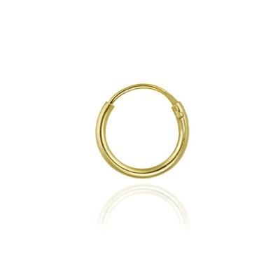 18K Gold over Sterling Silver 10mm Hoop Earring