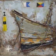 The Urban Port Antiqued Ship Metal Art by Urban Port
