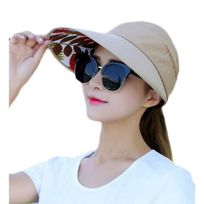 Fashion UV Protection Hat Elegant Sunscreen Hat For Women Skin Care-Khaki