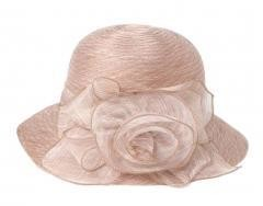 Foldable Sun Hat Organza Beach Travel - Beige