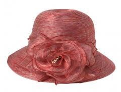 Foldable Sun Hat Elegant Organza  Beach Travel Hat