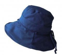 Dark Blue] Foldable Sun Hat Elegant Beach Hat