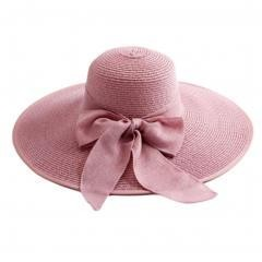 Big Brim Collapsible Sunhat Traveling Hat~Pink