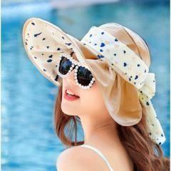Heart Sunscreen Hat Elegant Outdoor Beach Hat