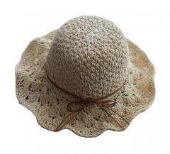 Summer Straw Hat Beach Wide Brim Bucket Hat