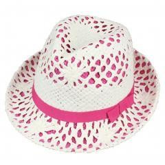Panama Hat(Red) Natural Straw Sun Hat