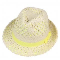Panama Hat (yellow) Natural Straw Sun Hat