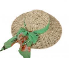 Sun/Beach Brim Hat Floppy Crochet Straw Foldable