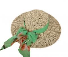 Sun/Beach Brim Hat Floppy Crochet Straw Foldable