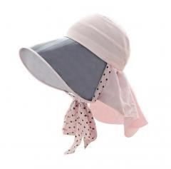 Sun Protection Hat with PVC Visor, Boonie Hat Pink