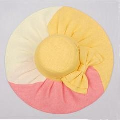 MULTI-COLOR Wide Brimmed Summer Beach Bow Hat