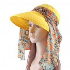 Women's Multifunctional Adjustable Sun Hat (Yellow)