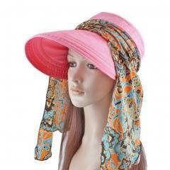 Women's Multifunctional Adjustable Sun Hat (Pink)