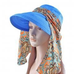 Women's Multifunctional Adjustable Sun Hat (Blue)