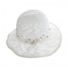 Fisherman's Hat Billycock Bucket Hat (White)
