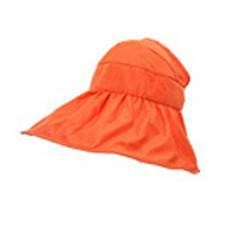 UV Large Collapsible Sun Hat summer Easy to Carry (orange)