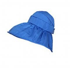 UV Large Collapsible Sun Hat summer Easy to Carry (Blue)