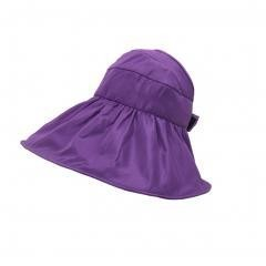 UV Large Collapsible Sun Hat summer Easy to Carry (purple)