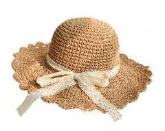 Lace Bowknot Straw Hat Summer Foldable Sun Hat-Natural