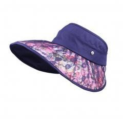 Women's Empty Top Hat Wide Brim Sun Hat Cycling Cap, Navy