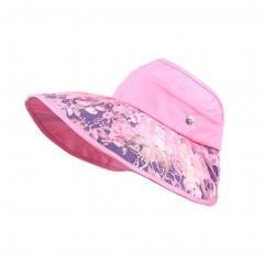 Women's Empty Top Hat Wide Brim Sun Hat Cycling Cap, Pink