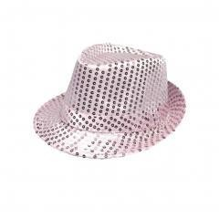 Sequined Hat For Men and Women Jazz Show hat Pink