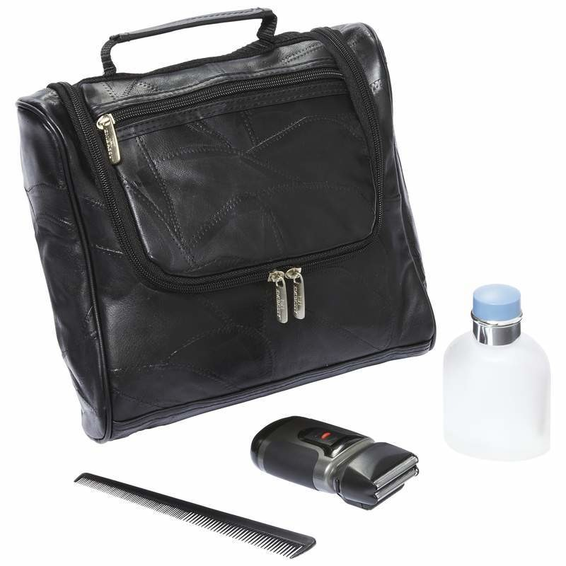 Genuine Lambskin Leather Toiletry Bag