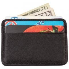 Embassy Men's Solid Genuine Leather Front Pocket Wallet