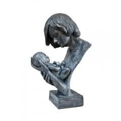 Women Holding Baby in Loving Hands Bust Sculpture