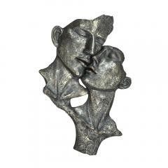 Loving Men Women Sculpture in Patina Finish