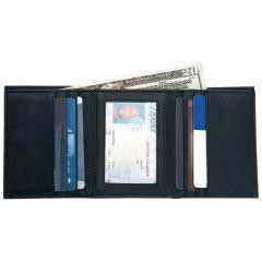 Embassy™Men's Solid Genuine Leather Tri-Fold Wallet