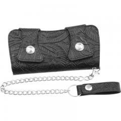 Casual Outfitters™Solid Genuine Leather Chain Wallet