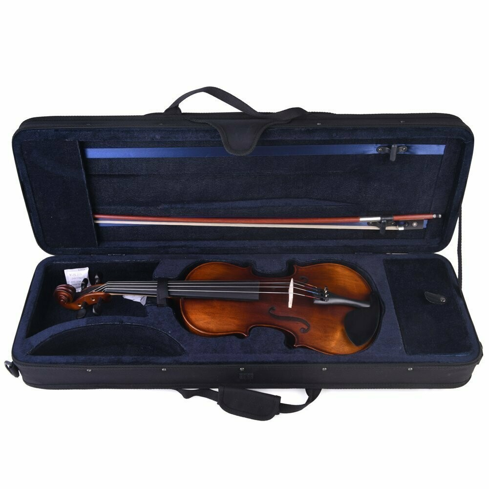 4/4 Full Size Intermediate Solid Wood Acoustic Violin with Hard Case