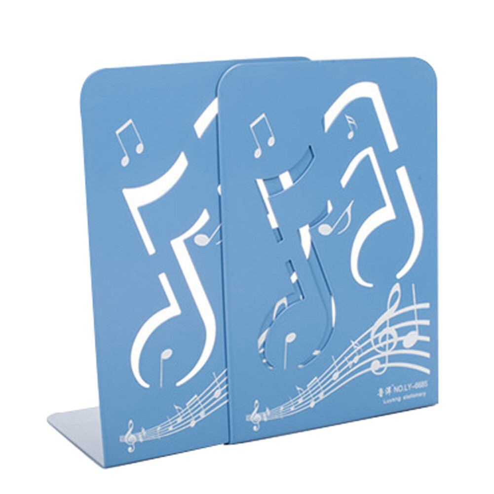 Fashion Nonskid Blue Music Notes Bookends