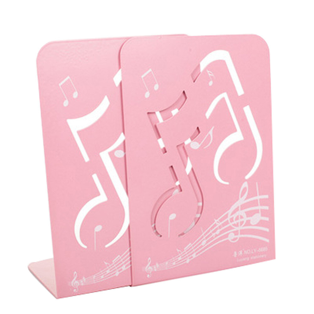 Fashion Nonskid Pink Music Notes Bookends