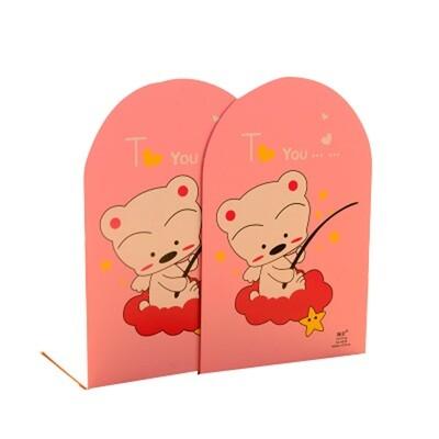 Cute Children's Cartoon Nonskid Pink Bookends