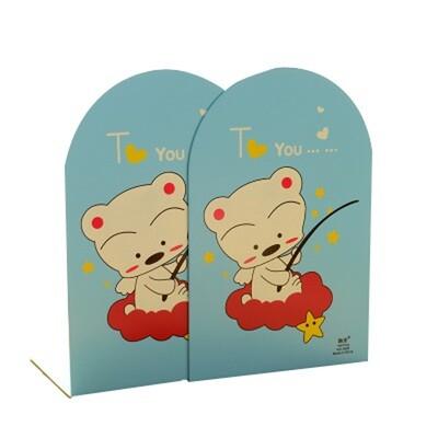Cute Children's Cartoon Nonskid Blue Bookends