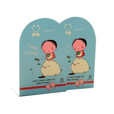 2 pieces Cute Children's Cartoon Nonskid Blue Bookends