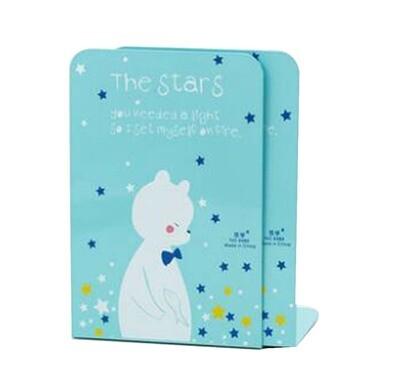 Blue Bear Desktop Book Holder Creative Metal Book Stand Bookends