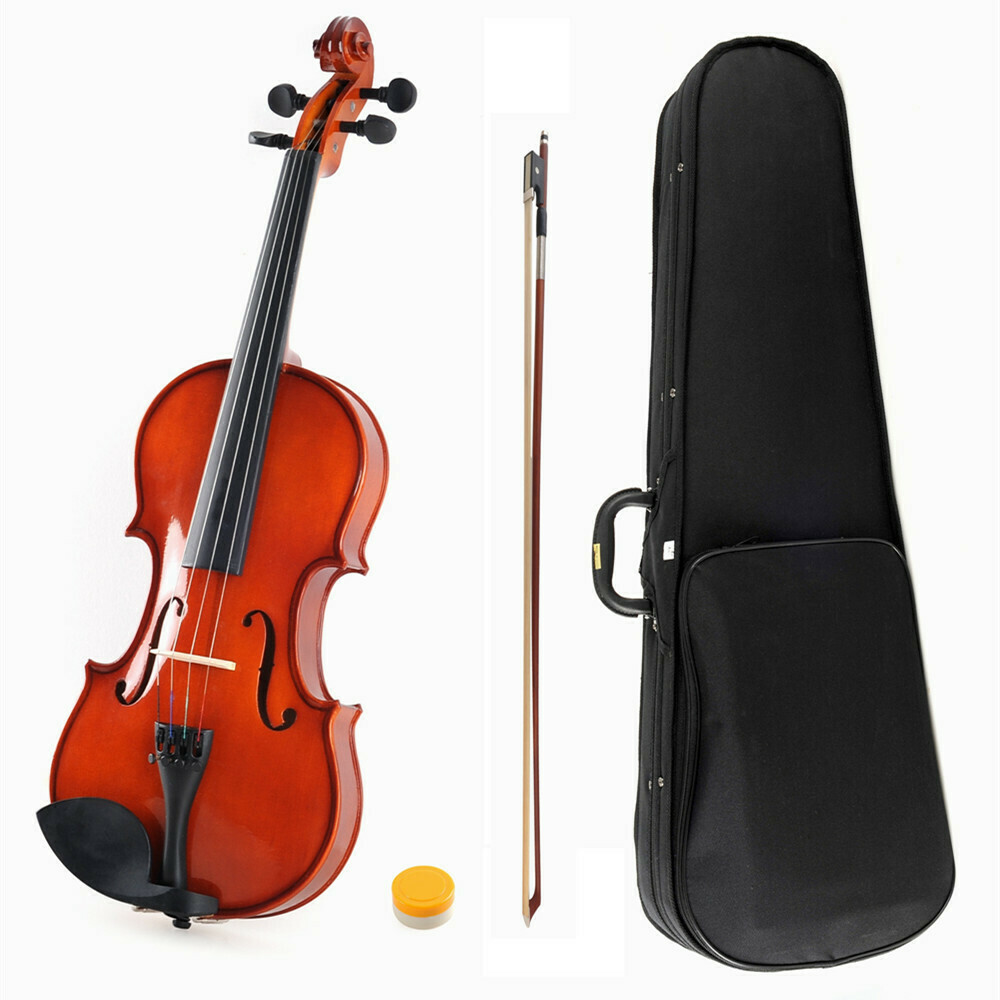 1/4 Size Handcrafted Student Violin Starter Kits, Red Brown lacquer