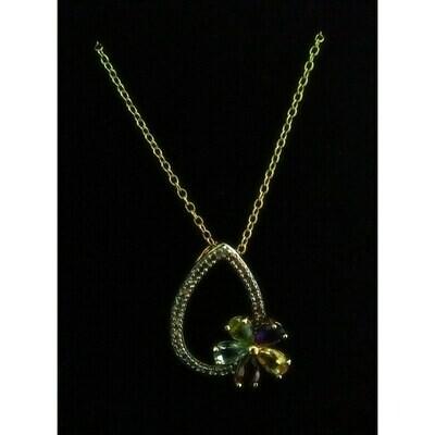 18k Gold Over Sterling Silver~Real Gemstones~18