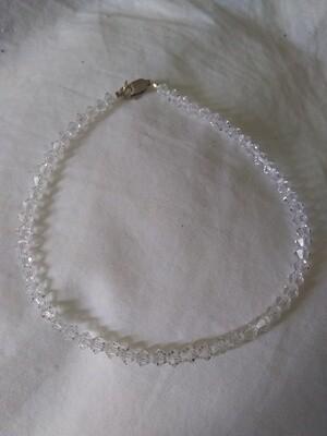 Clear Austrian Crystal Handmade Bracelet~ Sterling Silver Clasp 9