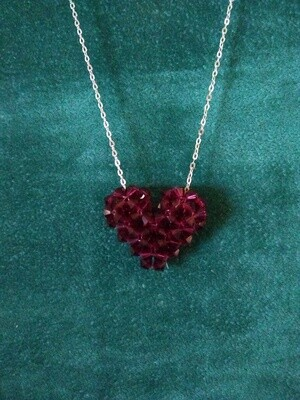 Red Austrian Crystal Woman Heart on 18