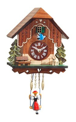 Alexandor Taron Mini Size Battery-operated Clock with Music/Chimes - 7